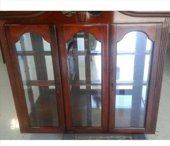 Smoke Damaged China Cabinet in Irmo, SC After