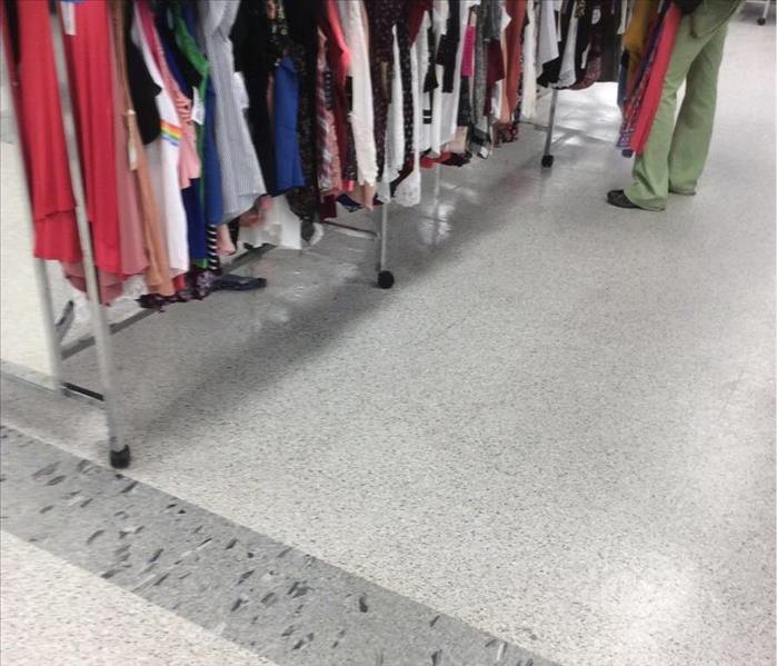Sink Leaks in Columbia Department Store After