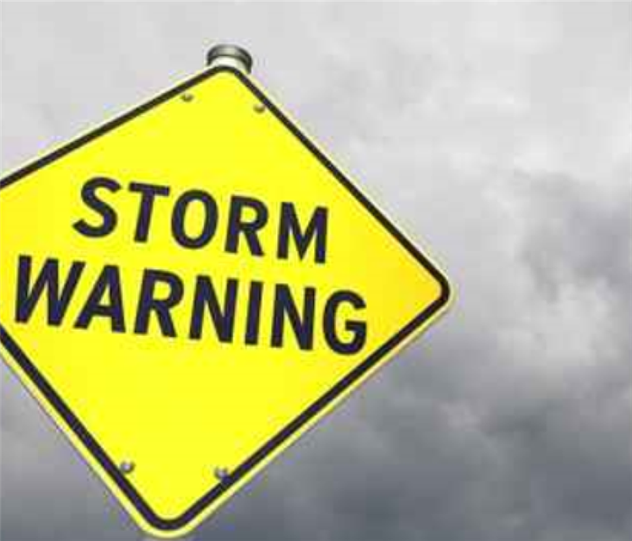 A Storm warning sign